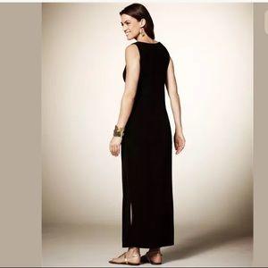XL X-LARGE▪️SLINKY BLACK MAXI DRESS Day/Evening